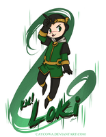 Rude - Kid!Loki by caycowa