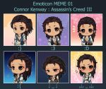 :AC: Connor - Emoticon meme 01 by PrinceOfRedroses