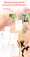 WIPS and doodles by ReneeDeLaGee