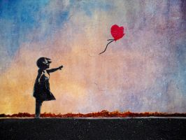 Banksy - girl and balloon by picture-frame
