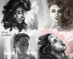 Portrait Sketches/Studies by FelFortune