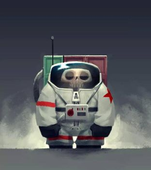 The tiny Cosmonaut! by Murfish
