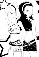 Black and White Stars by Miyazawa-Lulu