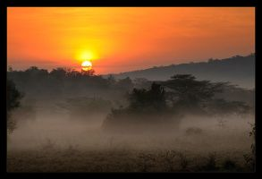 Sunrise in Uganda by mandrake975