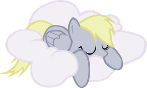 sleeping Derpy hooves VECTOR by RainBowDash89