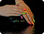 Rainbow manicure neon nails summer by Tartofraises