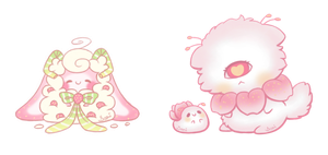 [CLOSED] Selling My OC's!  Fluffbit and Candyclops by Sarilain