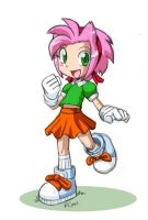Human Amy Rose by rongs1234