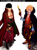 One Piece Z : Roronoa Zorro And Sanji by OneBill