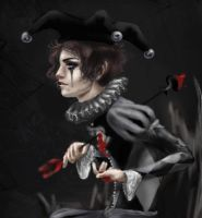 gothic jester-wip by shley77