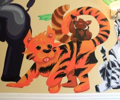 Tiger and Red Panda by 0AngelicWings0