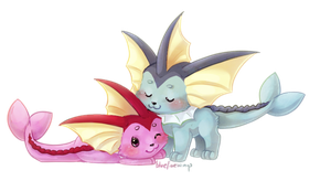 Vaporeons by Bluefirewings