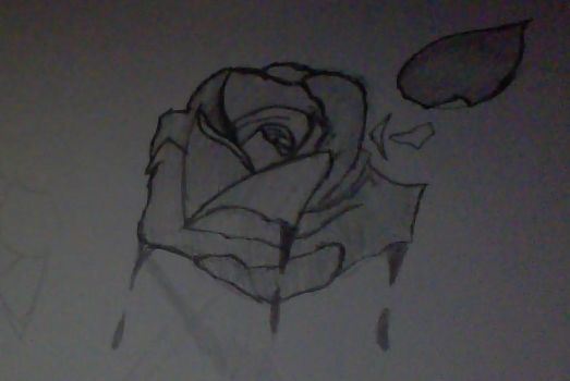 Tattoo Design: Bloody Rose by Element115Infection
