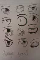 Manga eyes 1 by HowToDrawing