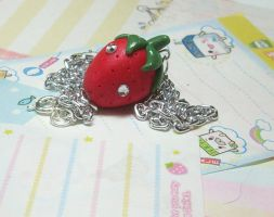 Strawberry Necklace by GrandmaThunderpants