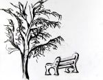 Bench under the a tree by LadyKylin