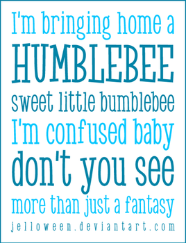 Font: HUMBLE BEE - preview by jelloween