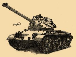 M47 Patton by TimSlorsky