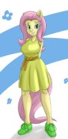 Fluttershy Anthro by Markay-delta