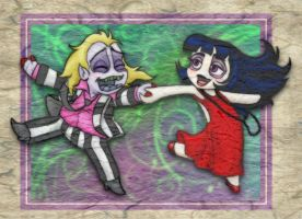 Beetlejuice Party Chibistyle by ForeverKnight