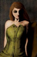 Woman in Corset by alethiologie