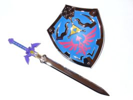 Master Sword and Shield shot 1 by gordon1