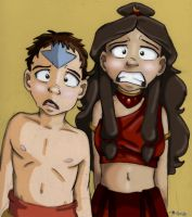 Aang and Katara WTF Colored by AmiraElizabeth
