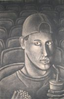 Self Portrait in Movie Theater by ThePat