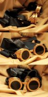 Homemade Steampunk Goggles by pendorabox