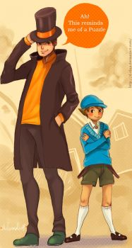 ::Professor Layton n Luke:: by d-clua