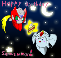 Late BDay present for samusmmx by Stareon