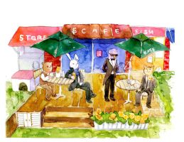Benny and Teddy Cafe by amoykid