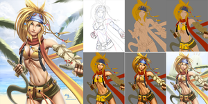 Rikku (Final Fantasy X / X-2) - Process by kkr222