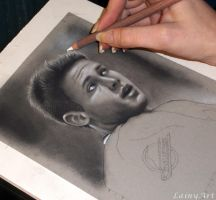 Pavel Bure - Charcoal WIP by secrets-of-the-pen