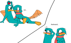 Perry and Taylor Awkward Moment by GrovyleFangirl1997