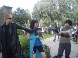 wesker and rinoa vs chris by Kansuli