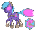 OC: S.T.R.E.A.K. the Chronus Pony by SilverRomance