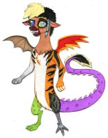 Brony Academy - Draconequus!Darien by Jackie-Chaos-Wolf