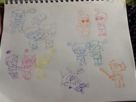 Homestuck Chibi Party by Cheezit1x1