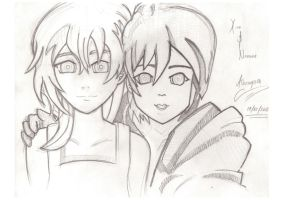 Xion and Namine by L0oKyNumBaS11