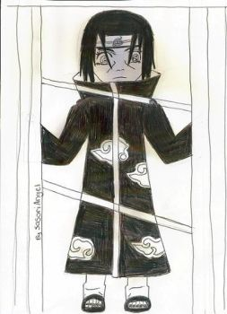 Itachi Looking Out The Window by SasoriAngel
