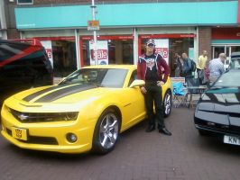 Me and Bumblebee from Transformers by DoctorWhoOne