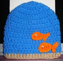Fishy Fun Newborn hat by Crochet-by-Clarissa