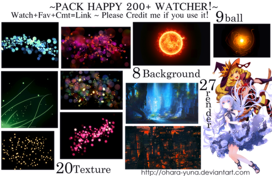 Pack Happy 200+ Watcher by Ohara-Yuna