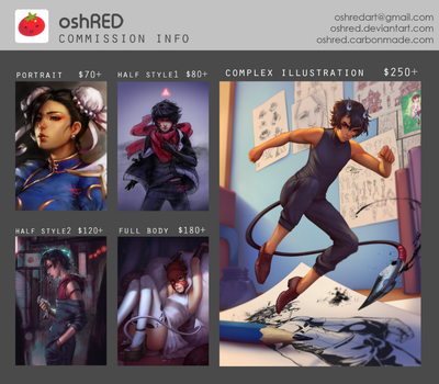 oshRED Commission Info [OPEN] by oshRED