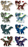 [OPEN] Unnatural Canines SET 2 by Roqe-Adopts