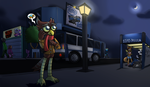 Coming back from After-hours work by Feline-gamer
