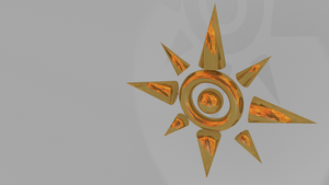 Digimon Adventure Crest of Courage 3D Gold Blazing by sharoku