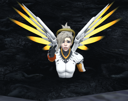 Mercy pleading for help. by SuperVegeta1986