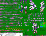 Blaze Ultimate Advance Sprites by kaijinthehedgehog